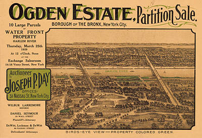 1909 Bronx New York Realtor Flyer Art Print
