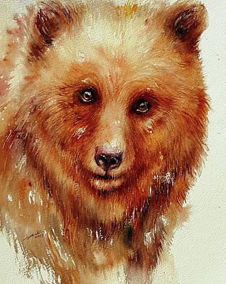 Painting - Bronze Bear by Arti Chauhan