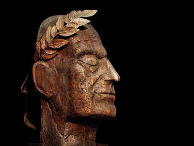 Sculpture - Bronze Bust Of Julius Caesar by Pixabay