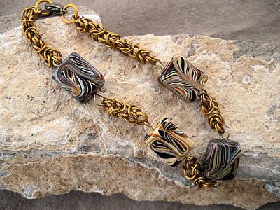 Byzantine Chain Jewelry - Bronze Byzantine Bracelet by Donna Smith