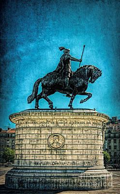Photograph - Bronze Equestrian Statue Of King John I by Sue Melvin