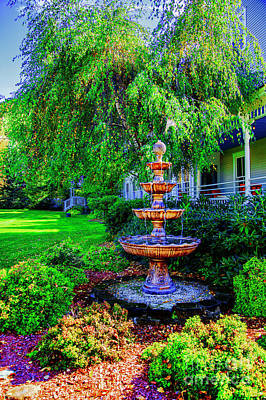 Photograph - Bronze Fountain by Rick Bragan