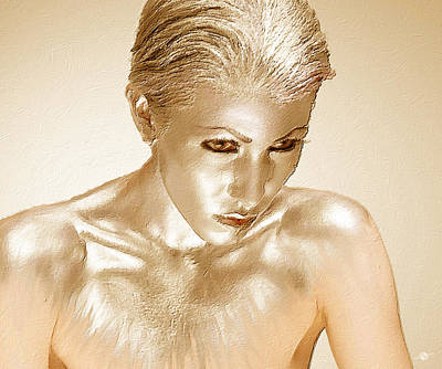 Painting - Bronze Gold Woman 1 by Tony Rubino