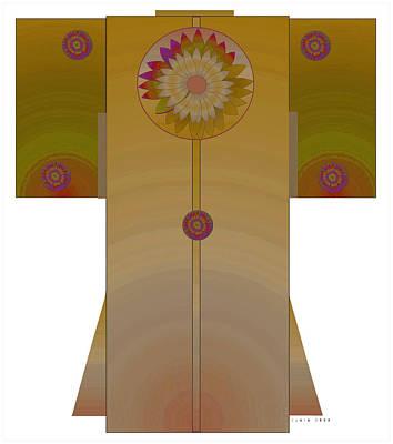 Bronze Mandala Kimono Art Print by Lydia L Kramer