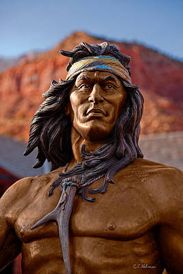 Photograph - Bronze Native by Christopher Holmes