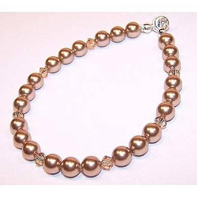 Sterling Silver Bracelet Jewelry - Bronze Pearl Bracelet by Kelly DuPrat