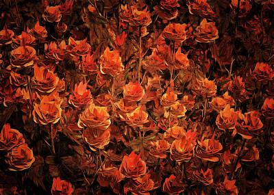 Painting - Bronze Roses by Jan Keteleer