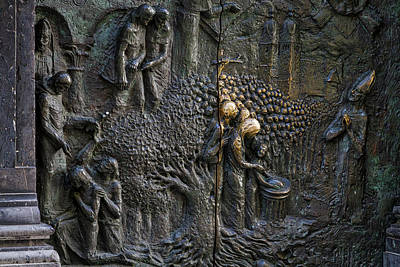 Photograph - Bronze Sculptured Church Door - Slovenia by Stuart Litoff