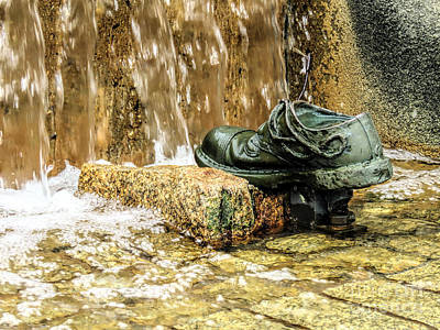 Photograph - Bronze Shoe River Cascade  by Janice Drew