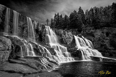 Art Print featuring the photograph Brooding Gooseberry Falls by Rikk Flohr