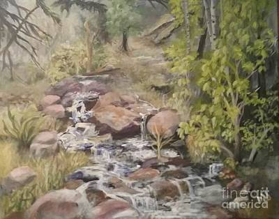 Art Print featuring the painting Brook by Saundra Johnson