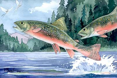 Brook Trout Painting - Brook Trout by Paul Brent