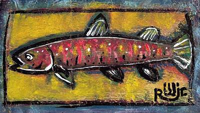 Painting - Brook Trout by Robert Wolverton Jr