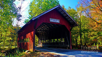 Photograph - Brookdale Covered Bridge by Scenic Vermont Photography