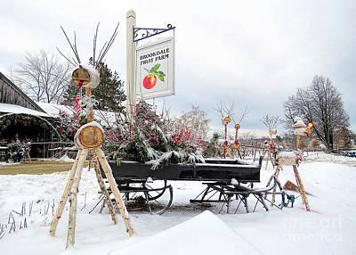 Photograph - Brookdale Fruit Farm Christmas Display by Janice Drew