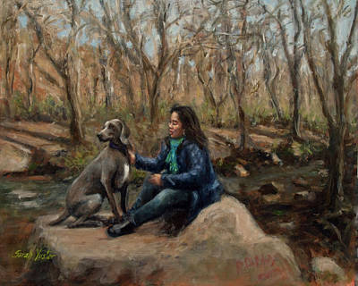 Painting - Brooke And Brenda by Sarah Yuster
