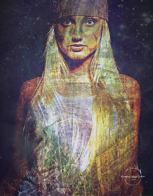 Digital Art - Brooke Hogan - Star Child by Absinthe Art By Michelle LeAnn Scott