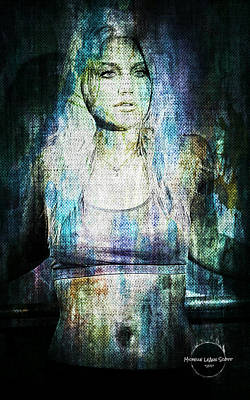 Digital Art - Brooke Hogan - The Workout by Absinthe Art By Michelle LeAnn Scott