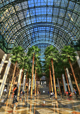 Photograph - Brookfield Place Atrium - N Y C # 2 by Allen Beatty