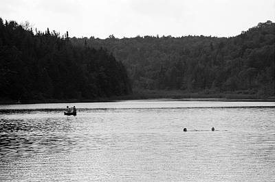 Print featuring the photograph Brookfield, Vt - Swimming Hole 2006 Bw by Frank Romeo