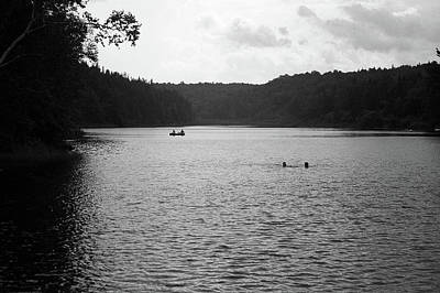 Print featuring the photograph Brookfield, Vt - Swimming Hole Bw 2 by Frank Romeo