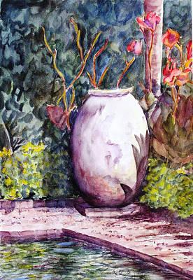 Canna Mixed Media - Brookgreen Garden Jardinaire by Barbara Jung