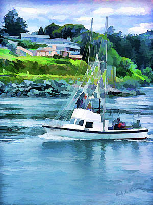 Brookings Boat Oil Painting Art Print by Wendy McKennon