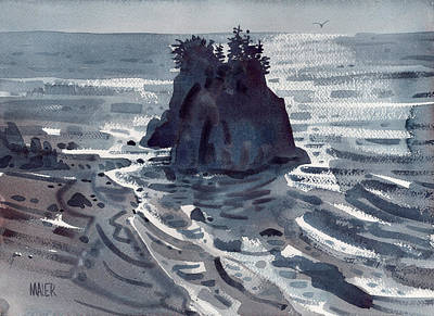 Oregon Coast Painting - Brookings by Donald Maier