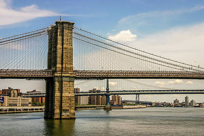 Photograph - Brooklin Bridge Ny by Menachem Ganon