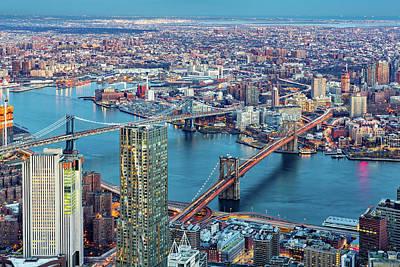 Photograph - Brooklyn And Manhattan Bridges by Mihai Andritoiu