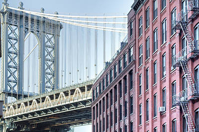 Photograph - Brooklyn And The Bridge by Silvia Bruno