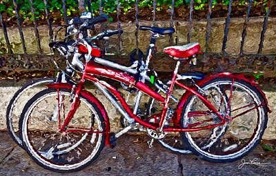 I Phone Covers Photograph - Brooklyn Bikes by Joan Reese