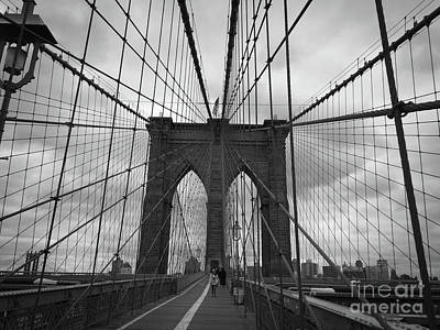 Black And White Photograph - Brooklyn Bound by Victory Designs