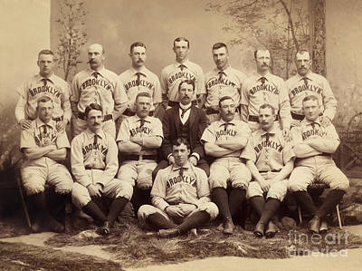 Nineteenth Century Photograph - Brooklyn Bridegrooms Baseball Team by American School