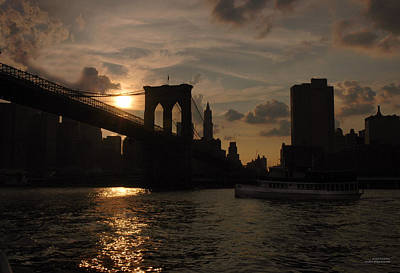 Brooklyn Bridge - Sunset Art Print