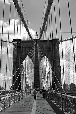 Photograph - Brooklyn Bridge 01 Bw - New York by Pamela Critchlow
