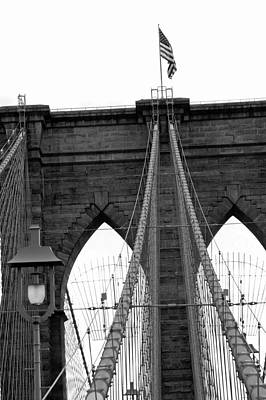 Photograph - Brooklyn Bridge 02 Bw - New York by Pamela Critchlow