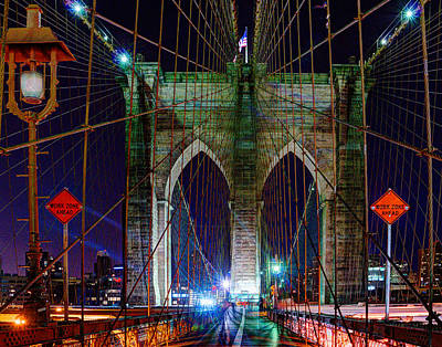 Photograph - Brooklyn Bridge 023 by Jeff Stallard