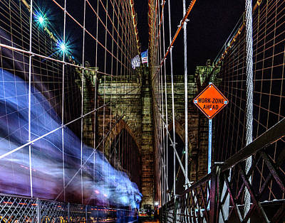 Photograph - Brooklyn Bridge 026 by Jeff Stallard