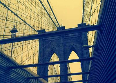 Photograph - New York City's Famous Brooklyn Bridge by Paulo Guimaraes