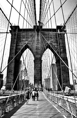 Photograph - Brooklyn Bridge 2 by Andrew Dinh