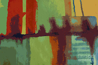 Brooklyn  Bridge Abstract Original by Julie Lueders