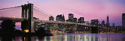 Evening Scenes Photograph - Brooklyn Bridge Across The East River by Panoramic Images
