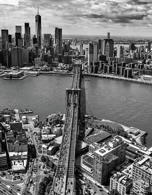 Photograph - Brooklyn Bridge Aerial by Rand