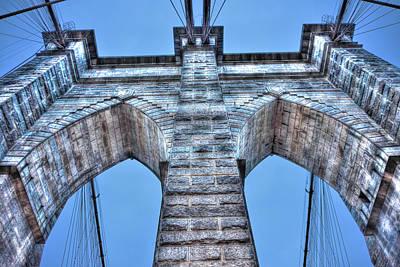 Brooklyn Bridge Arch Close Up Original by Randy Aveille