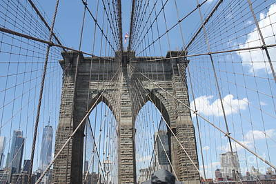Photograph - Brooklyn Bridge Arches by John Telfer
