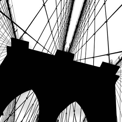 Skylines Royalty-Free and Rights-Managed Images - Brooklyn Bridge Architectural View by Az Jackson