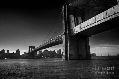 Photograph - Brooklyn Bridge At Sunrise by David Bearden