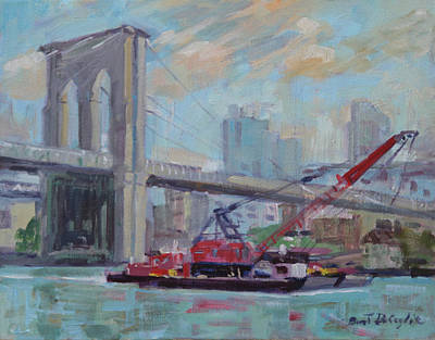 Painting - Brooklyn Bridge by Bart DeCeglie