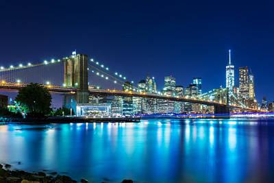 Photograph - Brooklyn Bridge Blues by Christopher Villandry